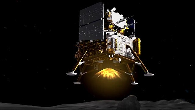 Chinese Chang'e-5 mission touches down on the moon