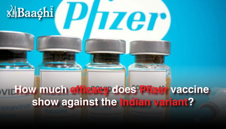 How much efficacy does Pfizer vaccine show against the Indian variant? #baaghi
