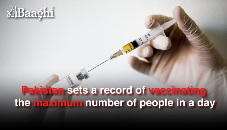 Pakistan sets a record of vaccinating the maximum number of people in a day #Baaghi