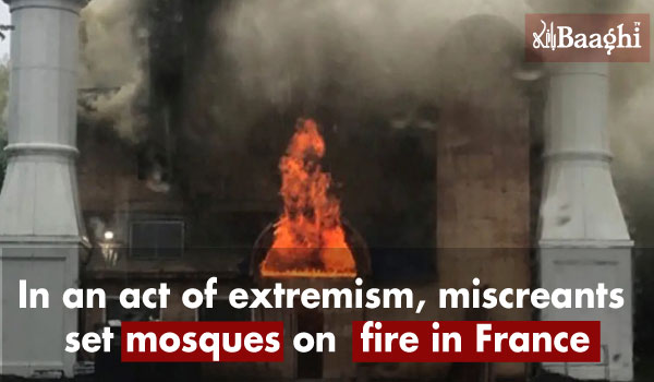 mosques on fire in France