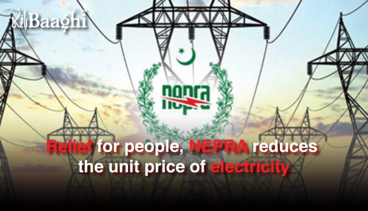 Relief for people, NEPRA reduces the unit price of electricity