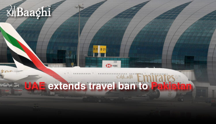 UAE extends travel ban to Pakistan