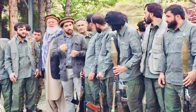 Ahmed Masood leading a resistance movement in the Panjshir Valley